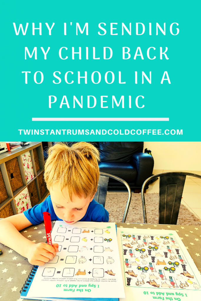 PIN image for why I'm sending my child back to school in a pandemic