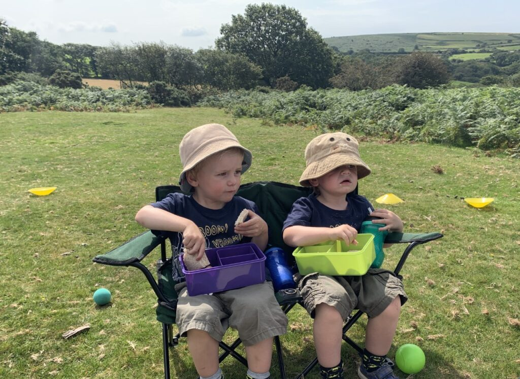 Twin boys on Dartmoor
