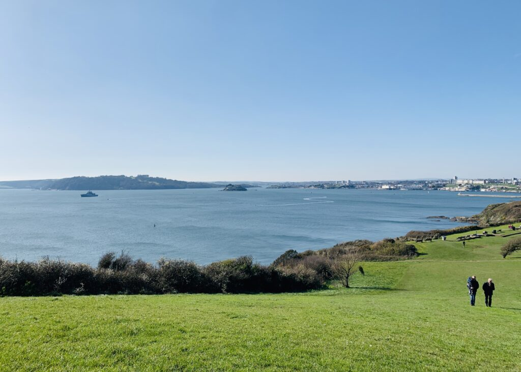 View out to see from Jennycliff, one of the best outdoor spaces in Plymouth