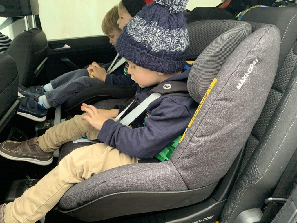 Toddlers in Maxi Cosi car seats