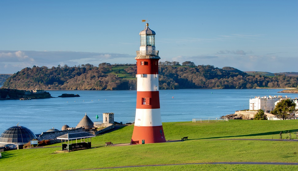 Smeaton's Tower lighthouse on Plymouth Hoe