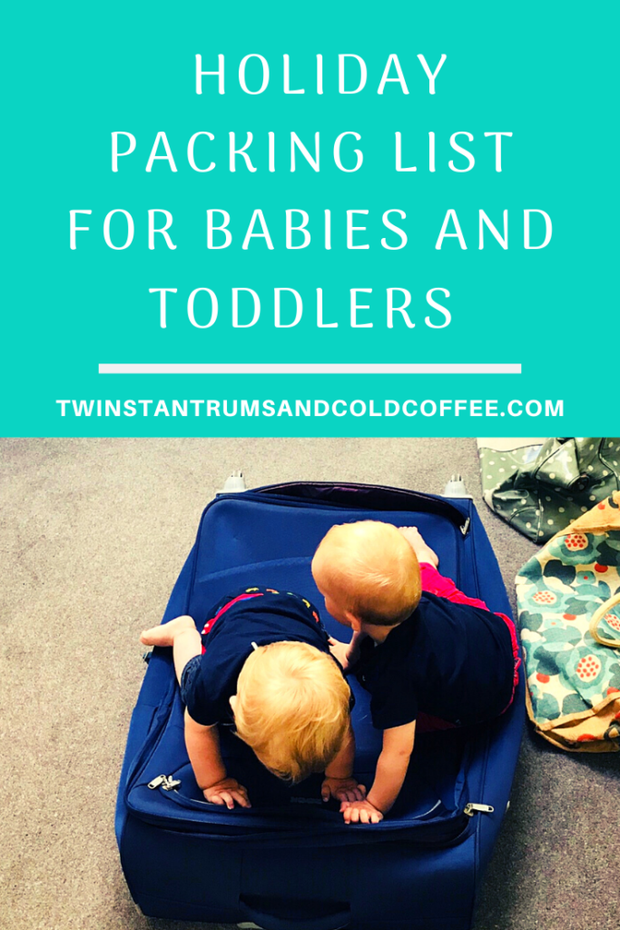 PIN holiday packing list for babies and toddlers