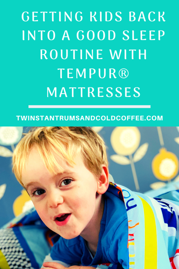PIN image for improving children's sleep routine with TEMPUR® mattresses