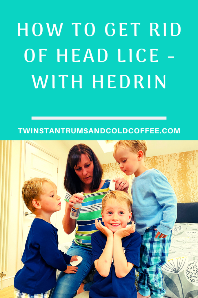 PIN image on how to tackle head lice with hedrin