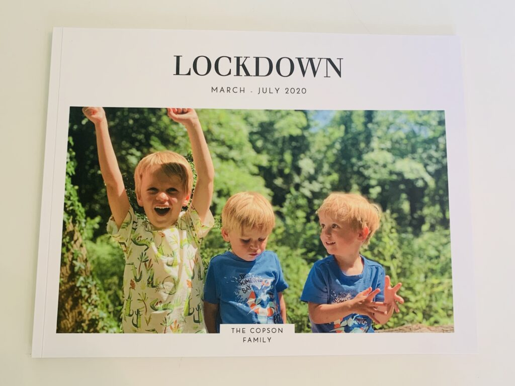 Photo book of lockdown pictures