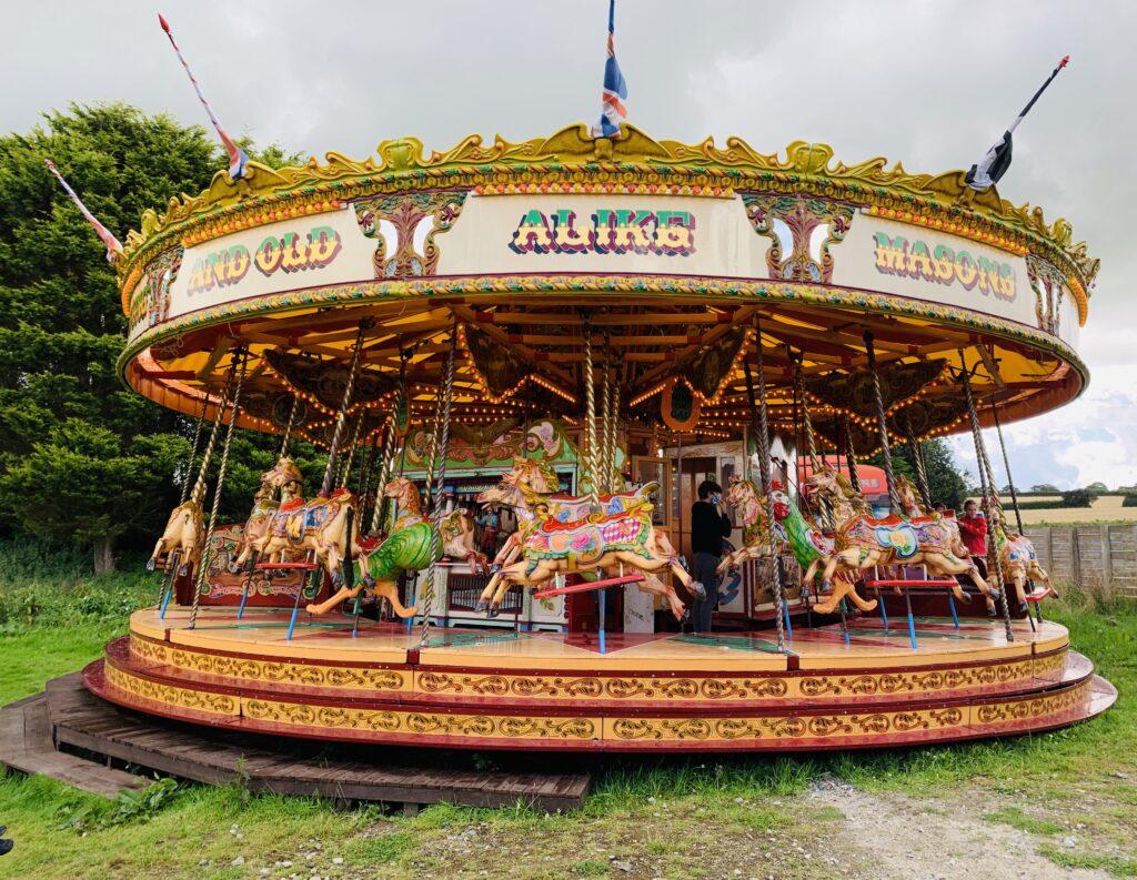Carousel at Springfields fun park