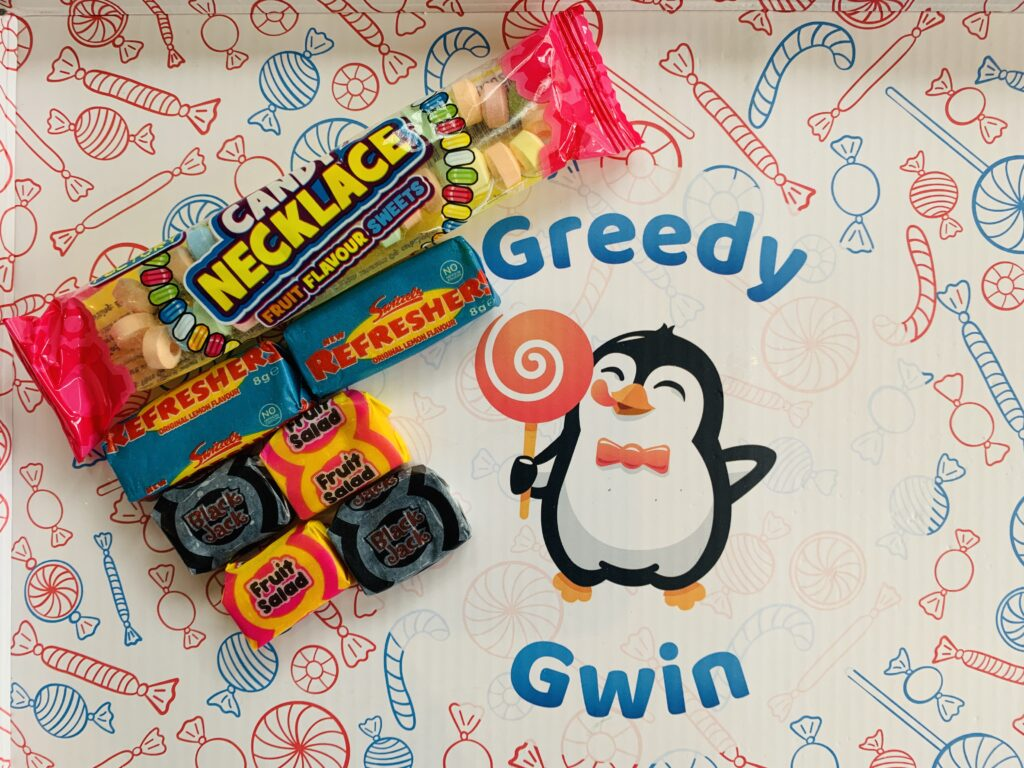 Retro sweets from Greedy Gwin