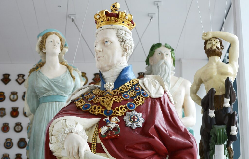 Figureheads which will be on display at the Box in Plymouth