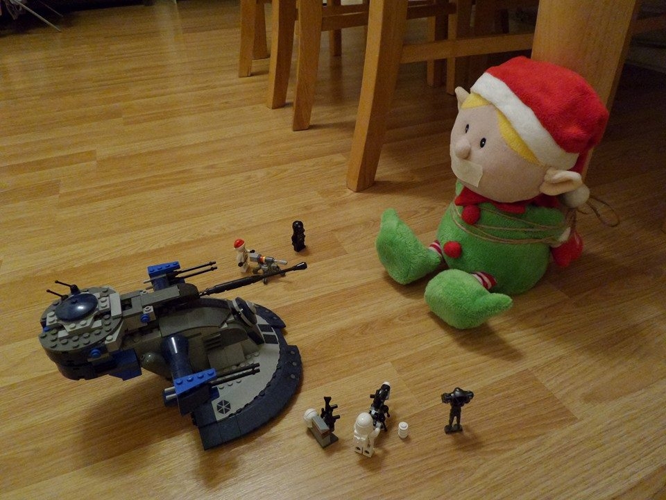 Elf toy - captured by storm troopers