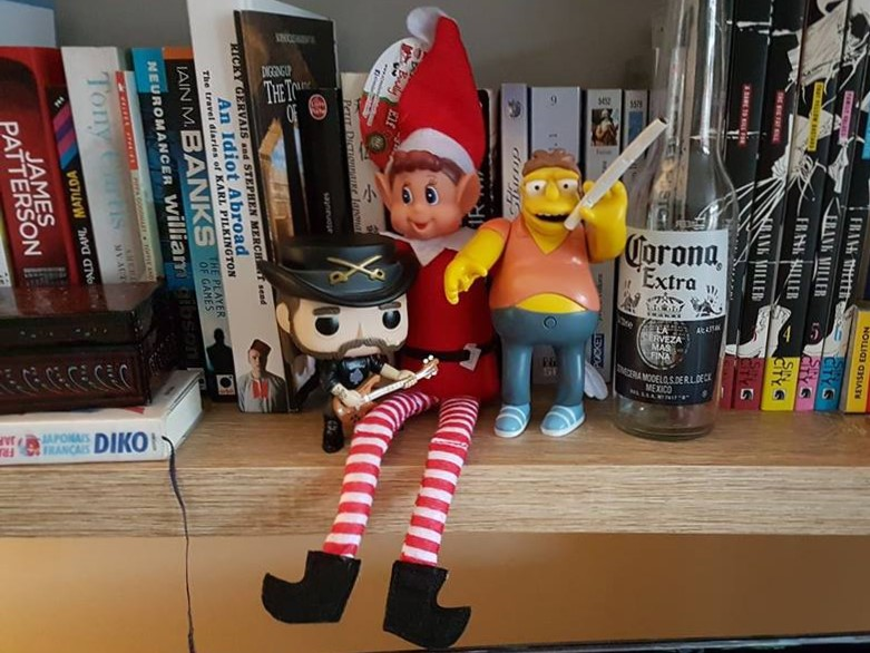 Elf toy - drinking and smoking
