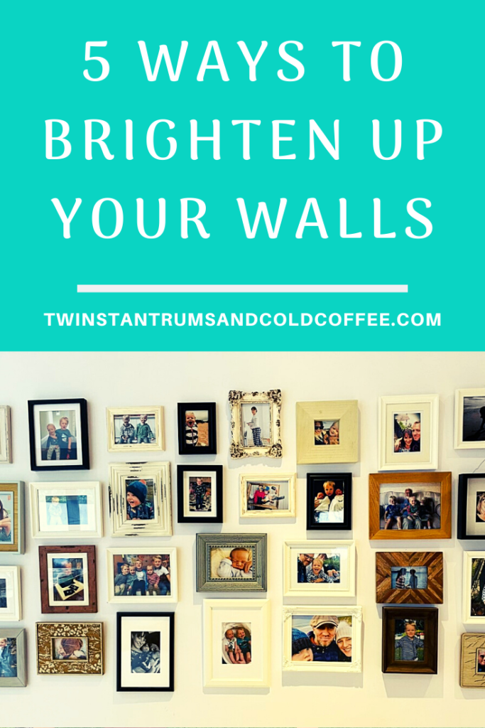 PIN image of a picture gallery wall for how to brighten your walls with wall art