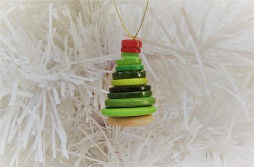 Christmas craft button tree decoration