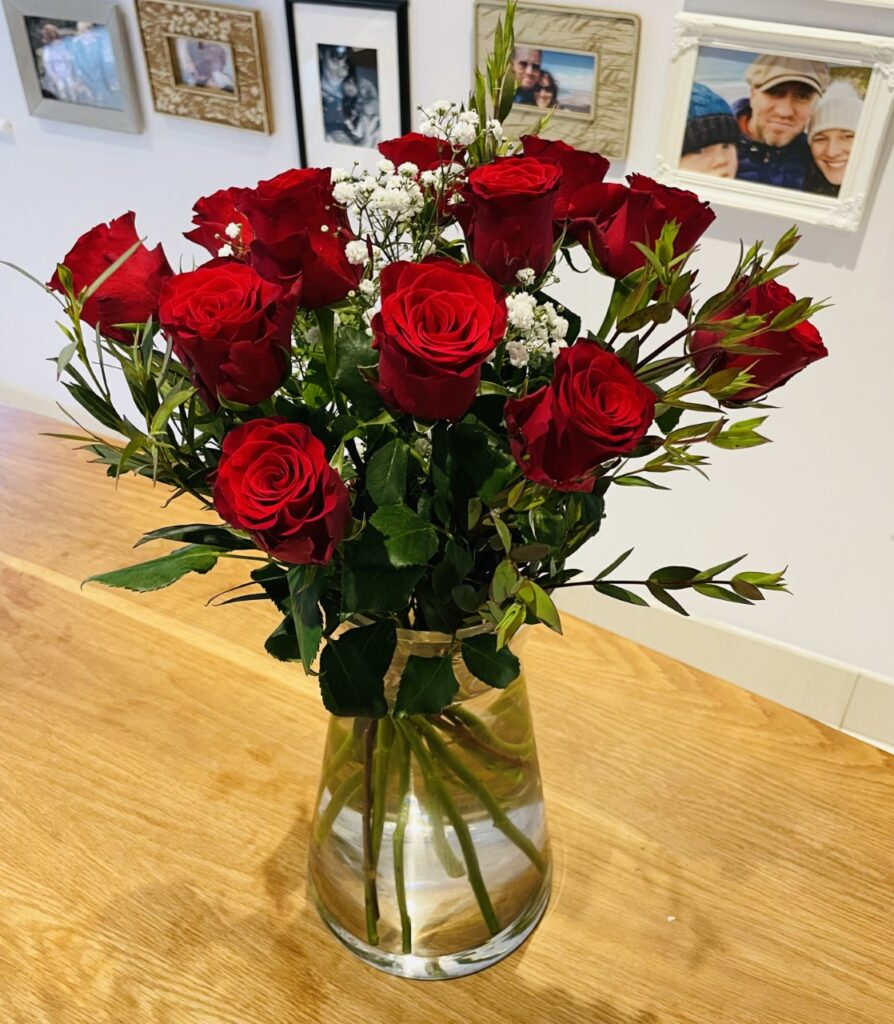 vase of red roses would make a nice birthday gift