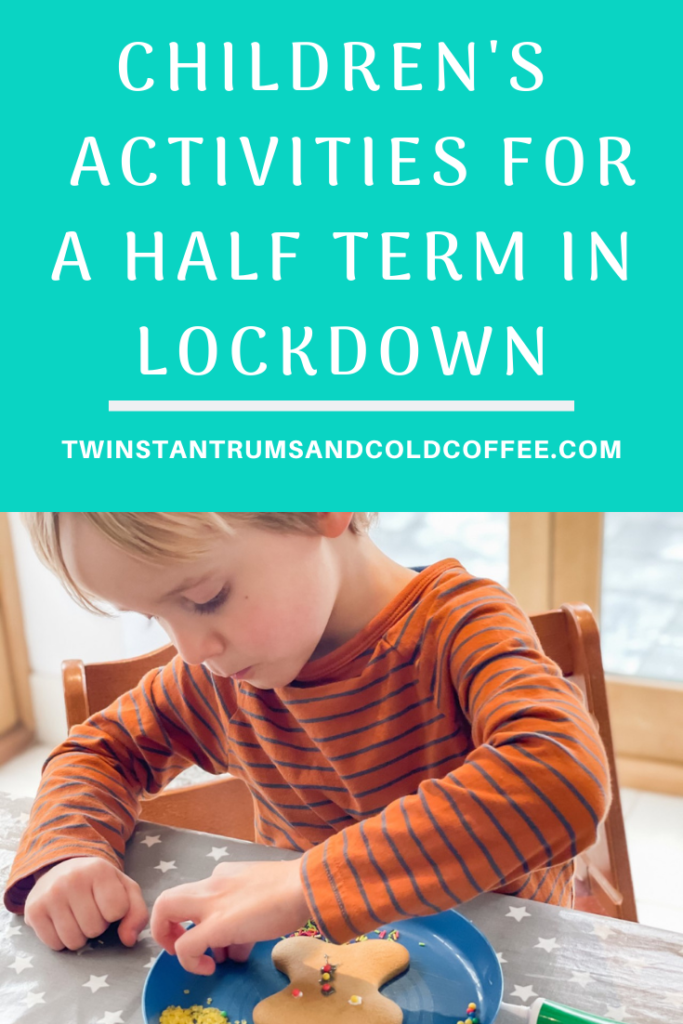 PIN image for children's activities for a half term in lockdown