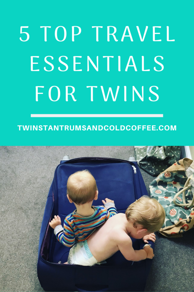 PIN twin boys playing in an empty suitcase