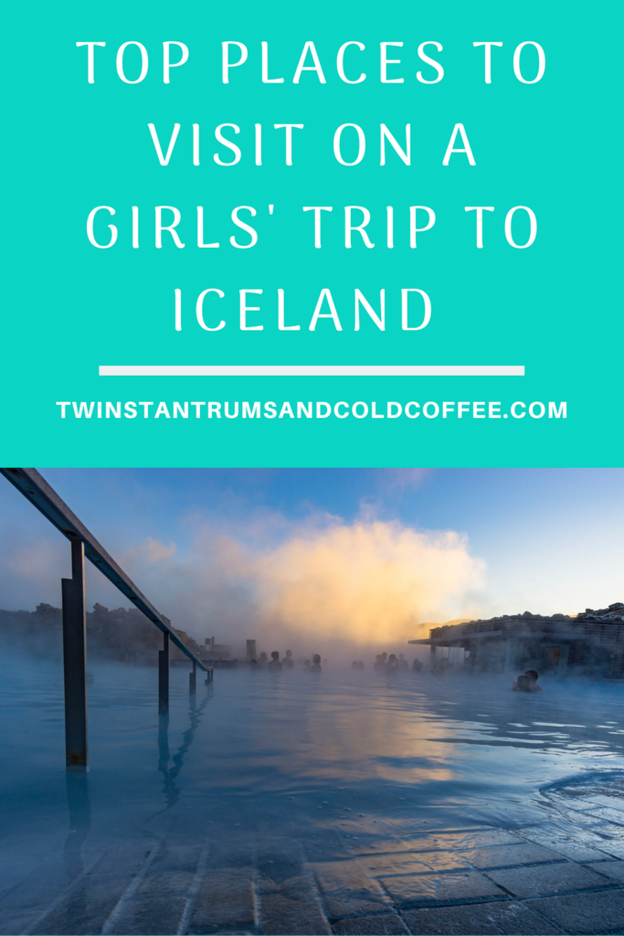PIN image of a geothermal spa as a suggestion of places to go on a girls' trip to Iceland