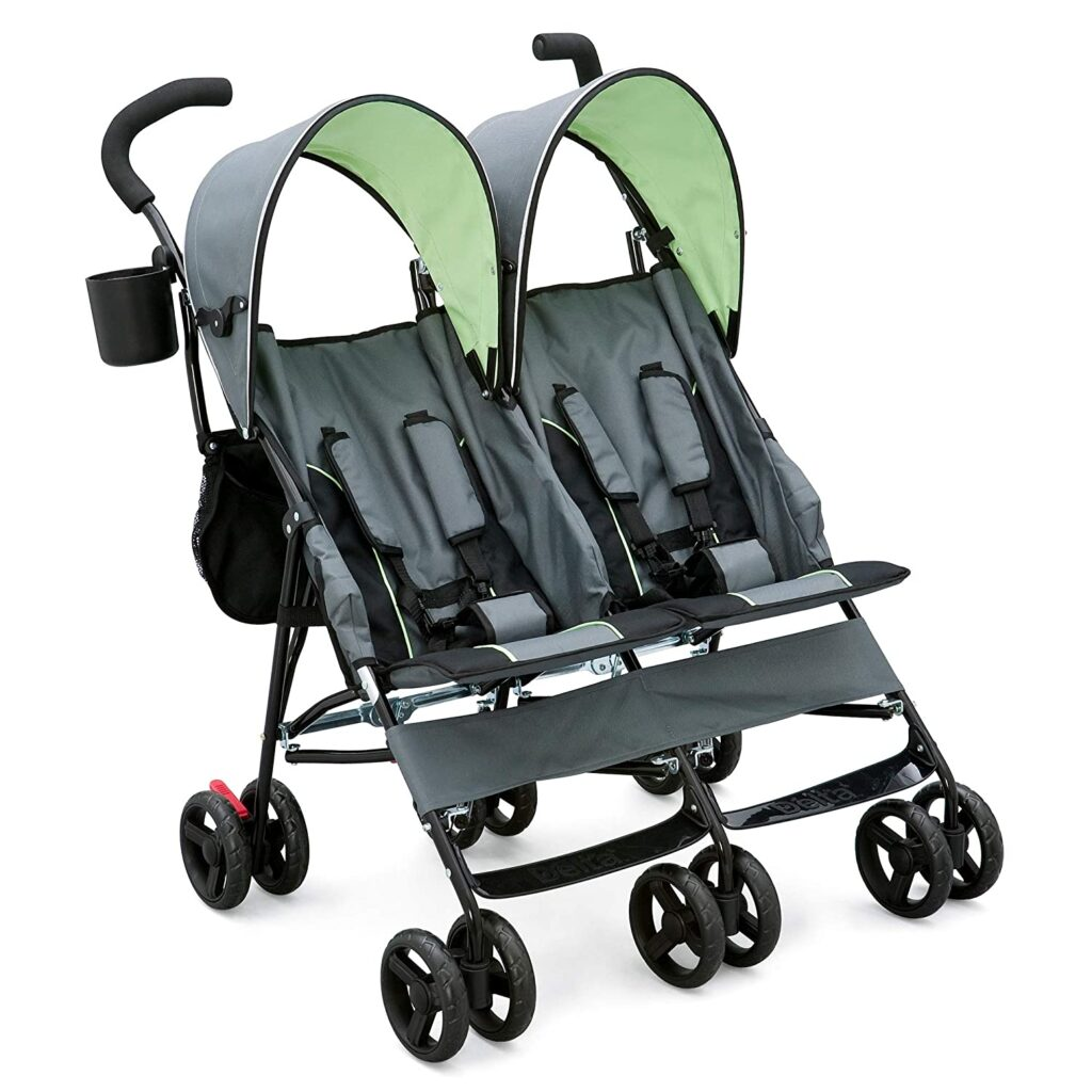 Delta double stroller from Amazon will make travelling with twins easy