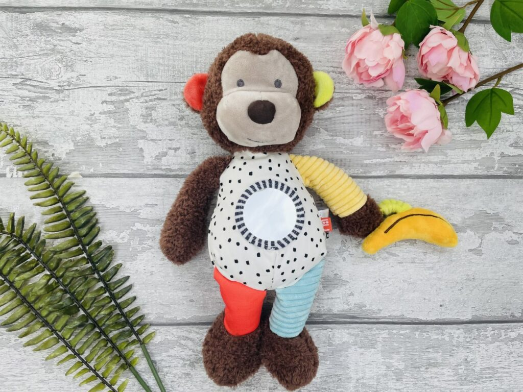 A sensory soft monkey toy from Mothercare