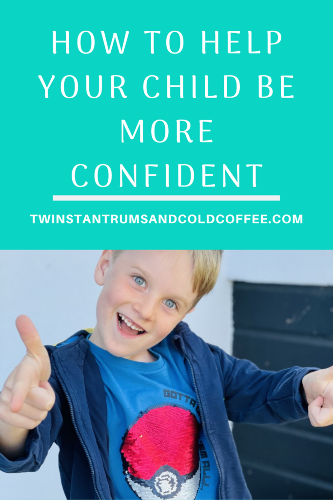How to help your child be more confident with a pic of a five year old smiling and with thumbs up