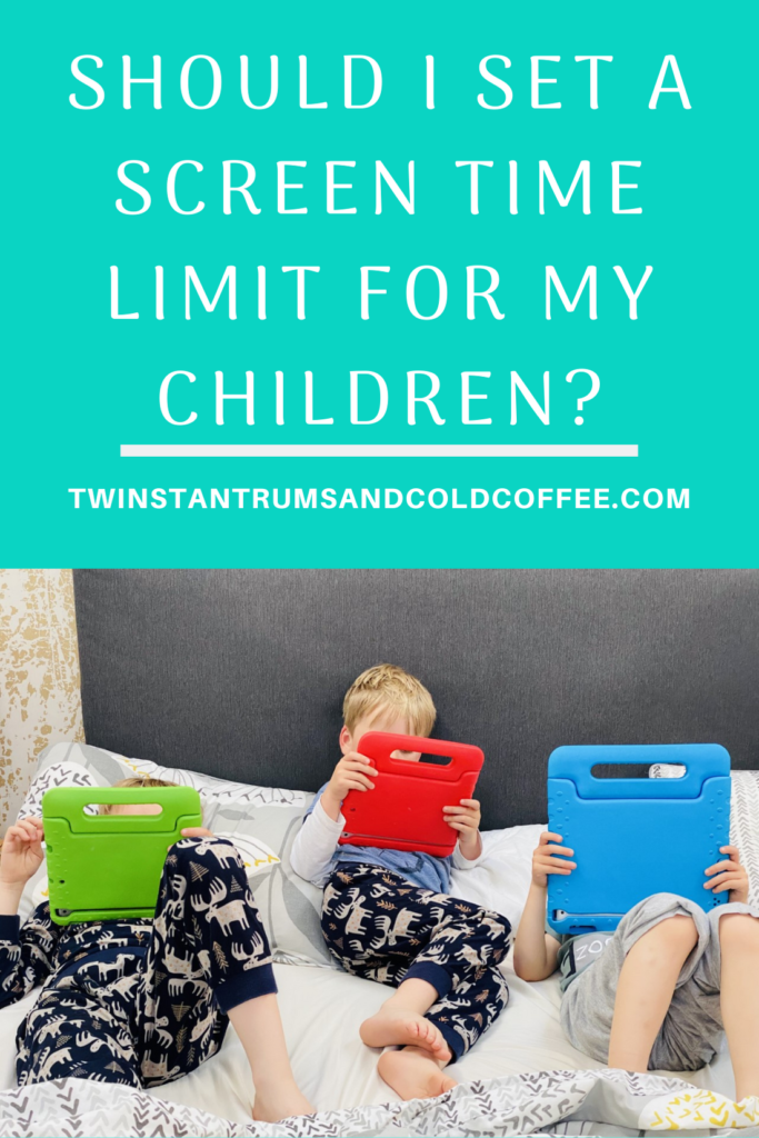 PIN Should I set a screen time limit for my children? Three brothers watching ipads in bed