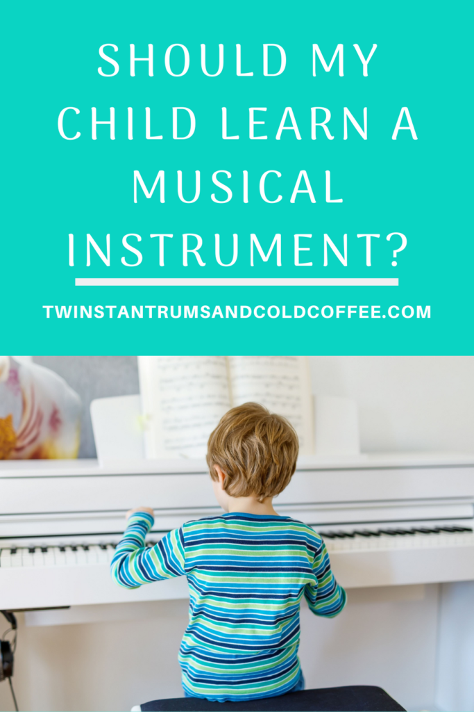 PIN image of a child learning an instrument playing the piano