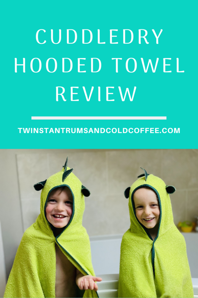 PIN FOR CUDDLEDRY DINO HOODED TOWEL REVIEW WITH TWIN BOYS LAUGHING BY THE BATH