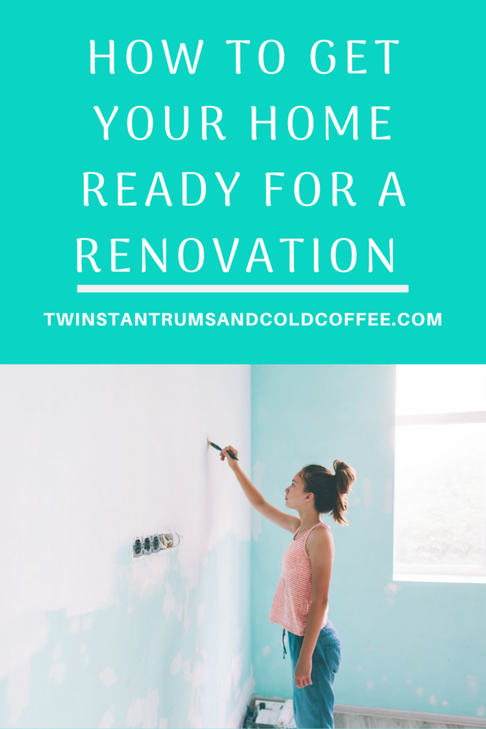 PIN image of a young woman painting a wall as part of renovating your home