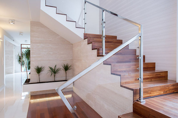 vinyl flooring on a stairway of a house