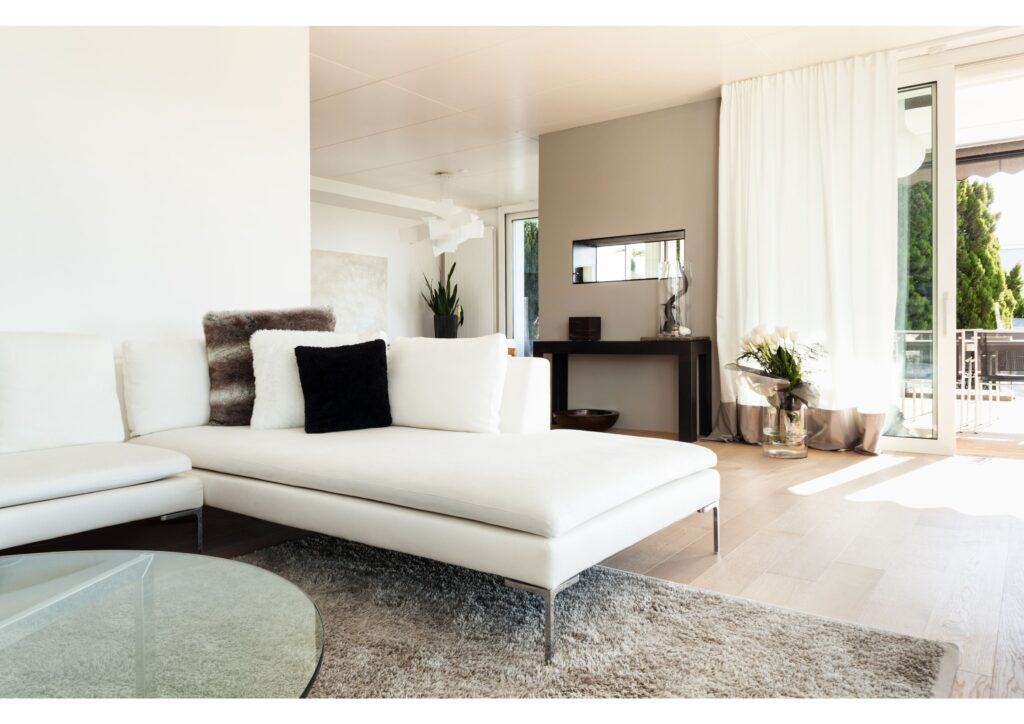 how to maintain your home, with a super modern lounge and furniture
