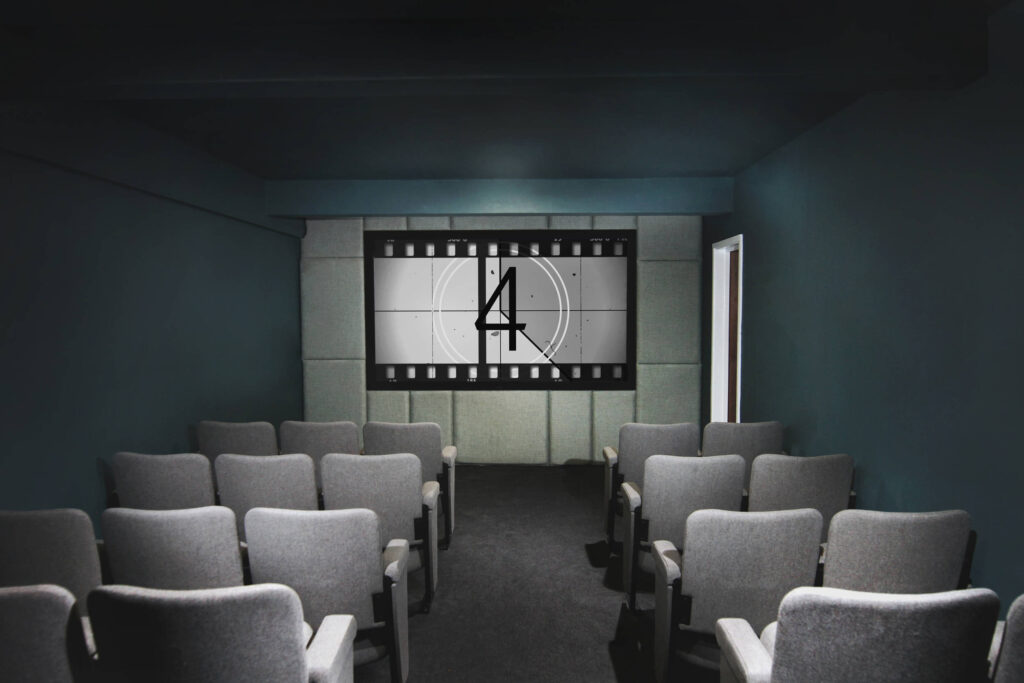A 30-seat in house cinema at the Esplanade hotel in Cornwall