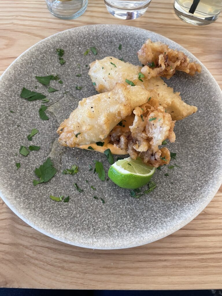 A plate of crispy squid