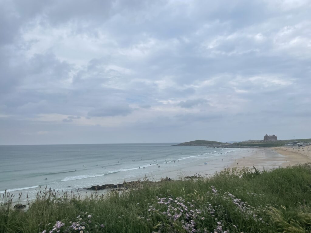 View out over Fistral beach from the family friendly hotel in cornwall, the Esplanade