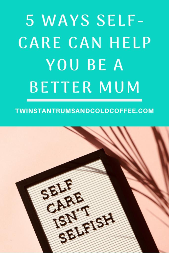 PIN image of a sign saying self care isn't selfish