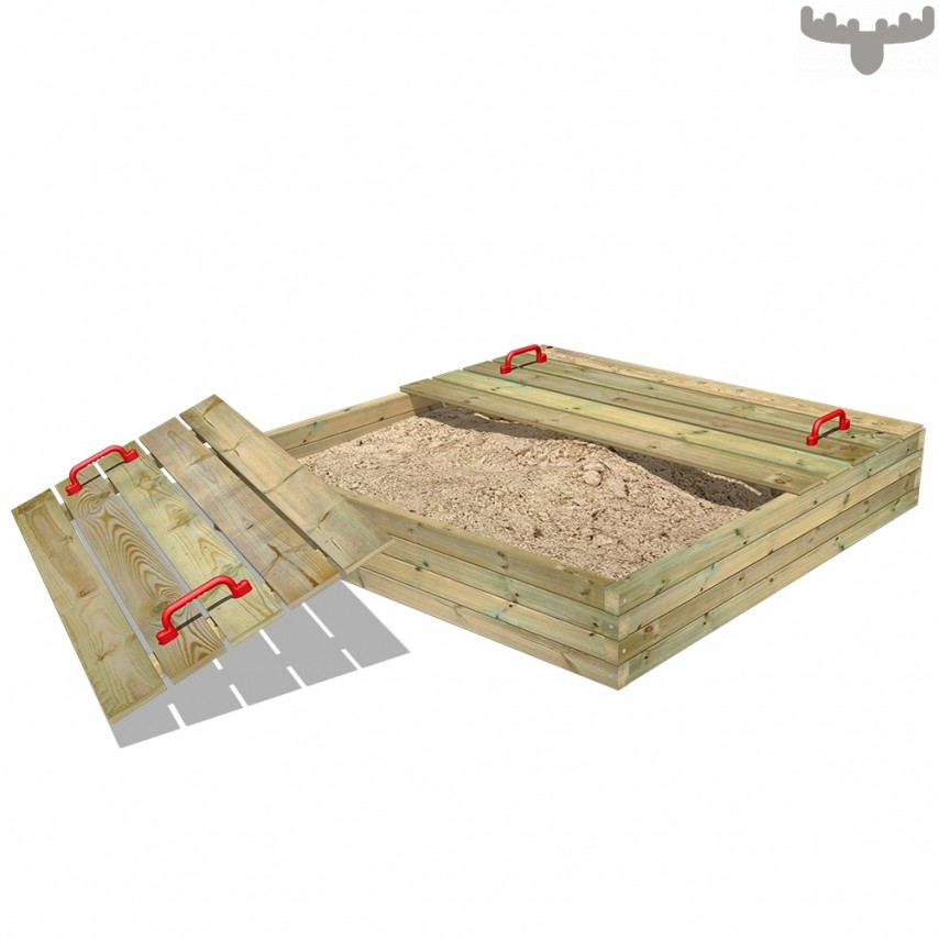 A wooden and pit with lid by Wickey