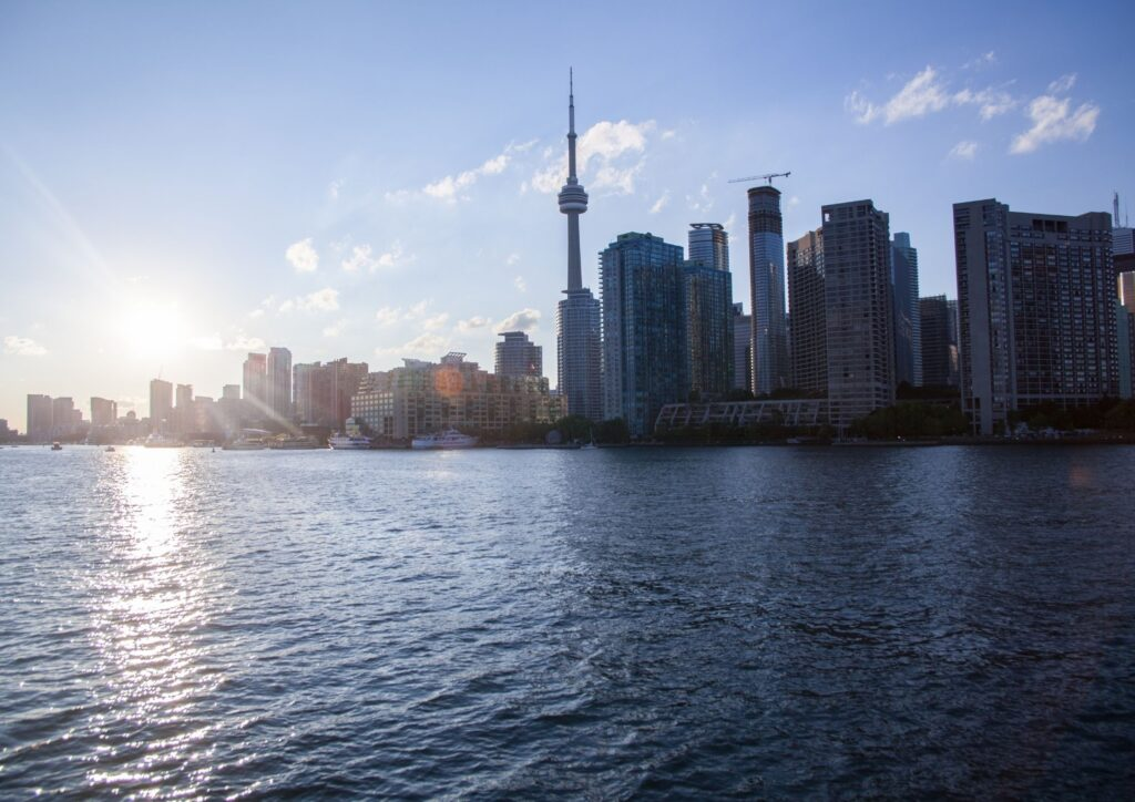 Skyline of Toronto which is a great place for travel with kids