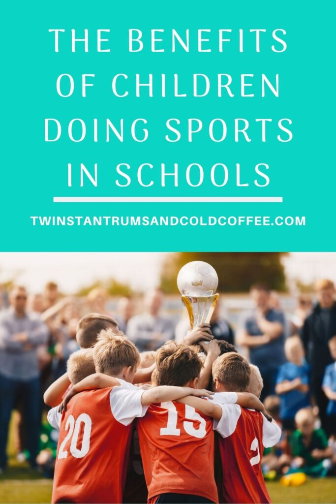 PIN image of a group of boys hugging after winning a football game as part of sport in schools