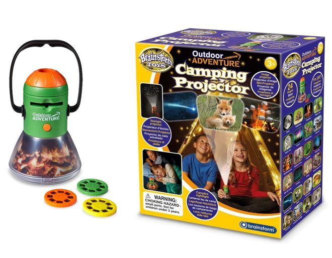 A camping projector from Wicked Uncle website is one of a list of brilliant children's presents