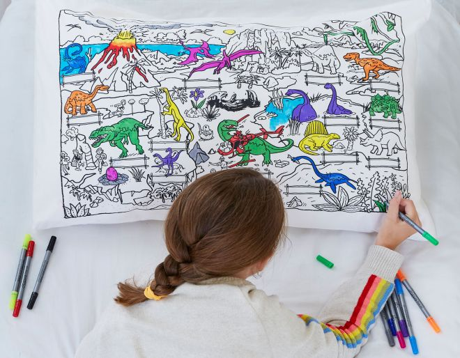 A doodle pillowcase is one of a list of brilliant children's presents on Wicked Uncle website