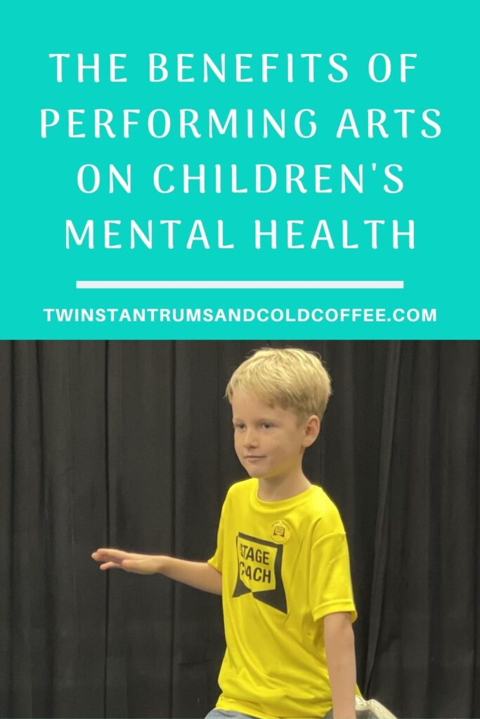 PIN image for a post about Stagecoach performing arts helping children's mental health following the pandemic